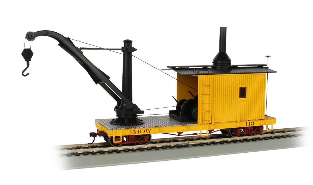 MOW - Yellow Derrick Car - On30