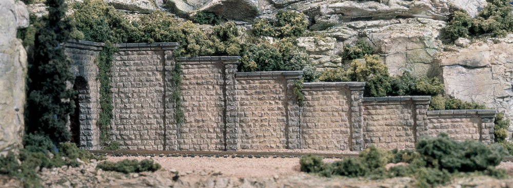 Cut Stone Retaining Wall - N Scale