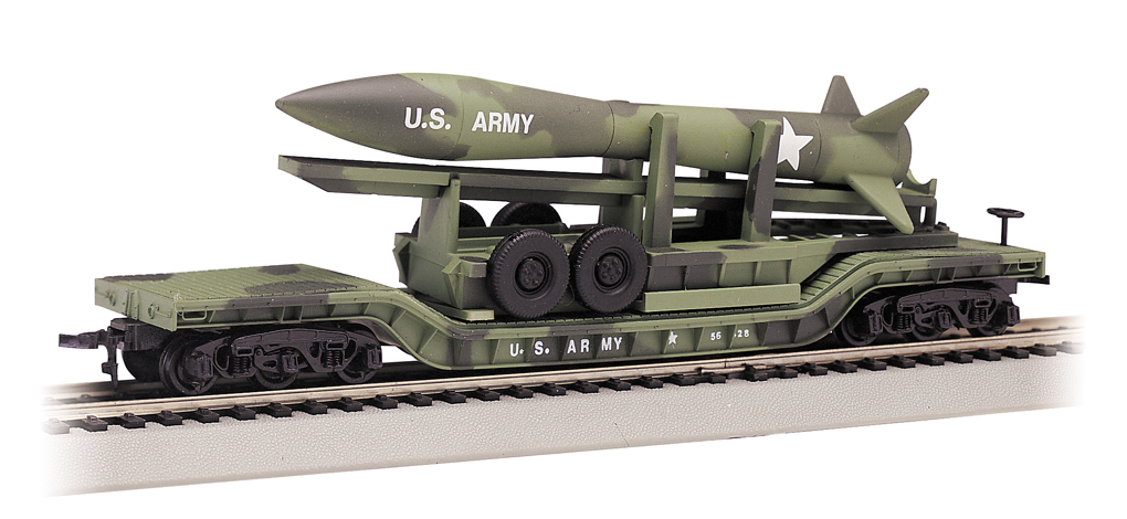 Olive Drab Military w/ Camouflage Missile - 52' Center-Depressed