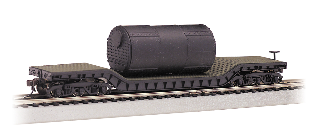 52' Center-Depressed Flat Car - with Boiler (HO Scale)