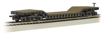 52' Center-Depressed Flat Car - with No Load (HO Scale)