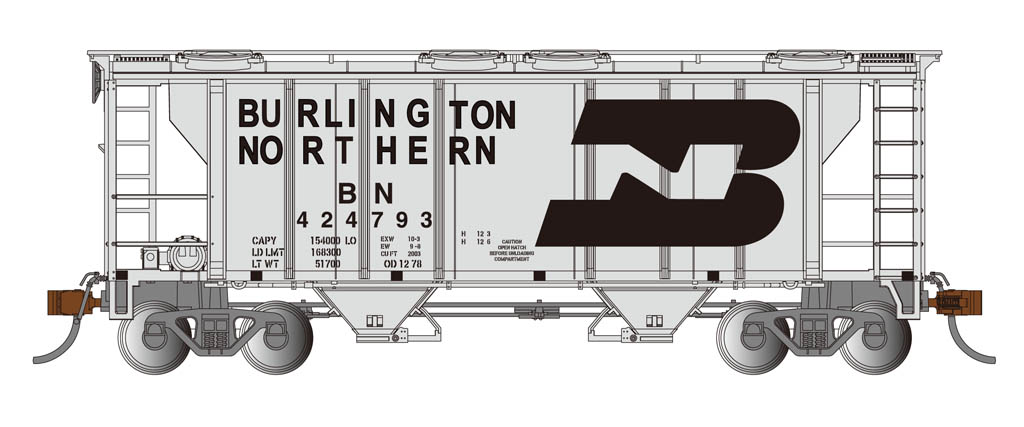Burlington Northern - PS-2 Covered Hopper (HO Scale)