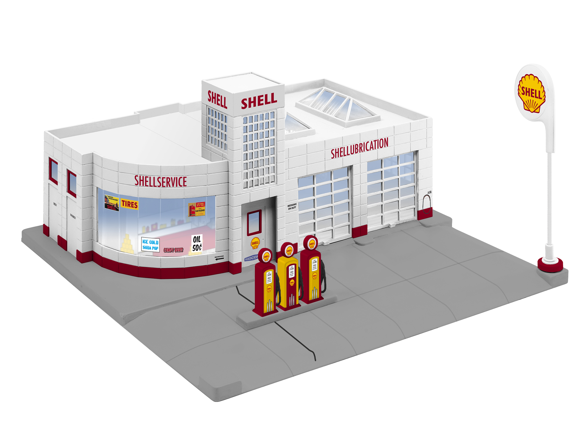 6-84496 SHELL GAS STATION (Lionel O Gauge)