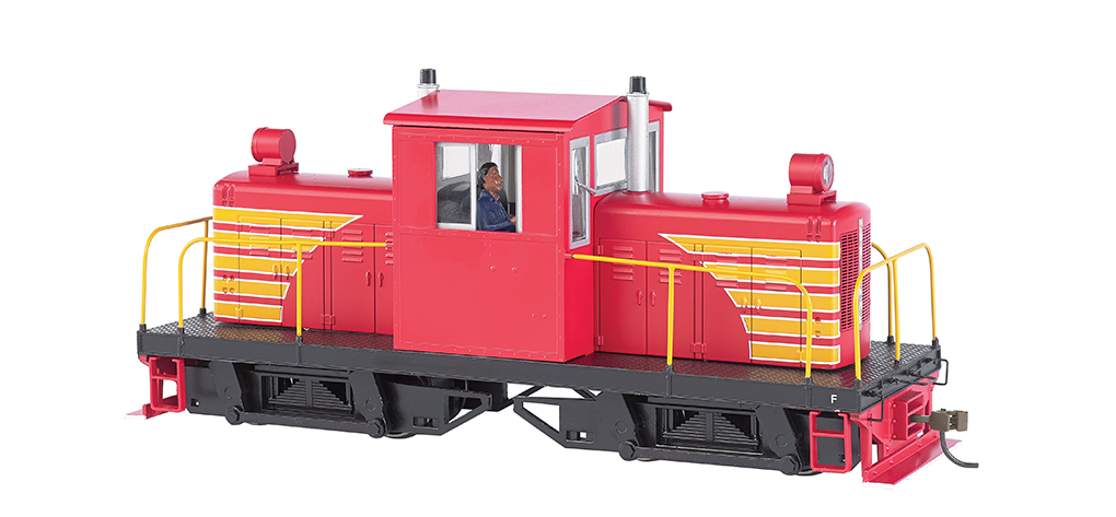 Painted unletterd - red w/ yellow- Whitcomb 50-Ton DCC (On30)